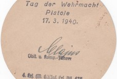 4. ers (M.G.) Inf. ers.BTL 475.4e Tag der Wehrmacht 17.3.1940