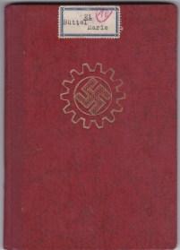 DAF Die Deutsche Arbeitsfront Mitgliedsbuch