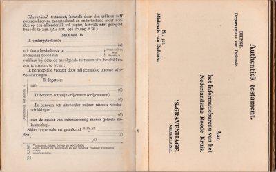 oorlogszakboekje testament