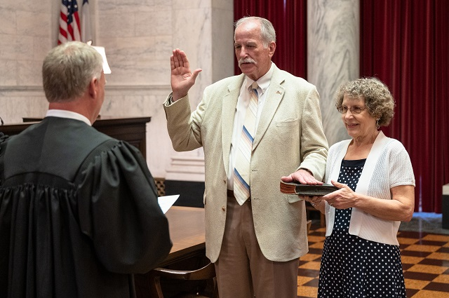 Justice Hutchison swearing in