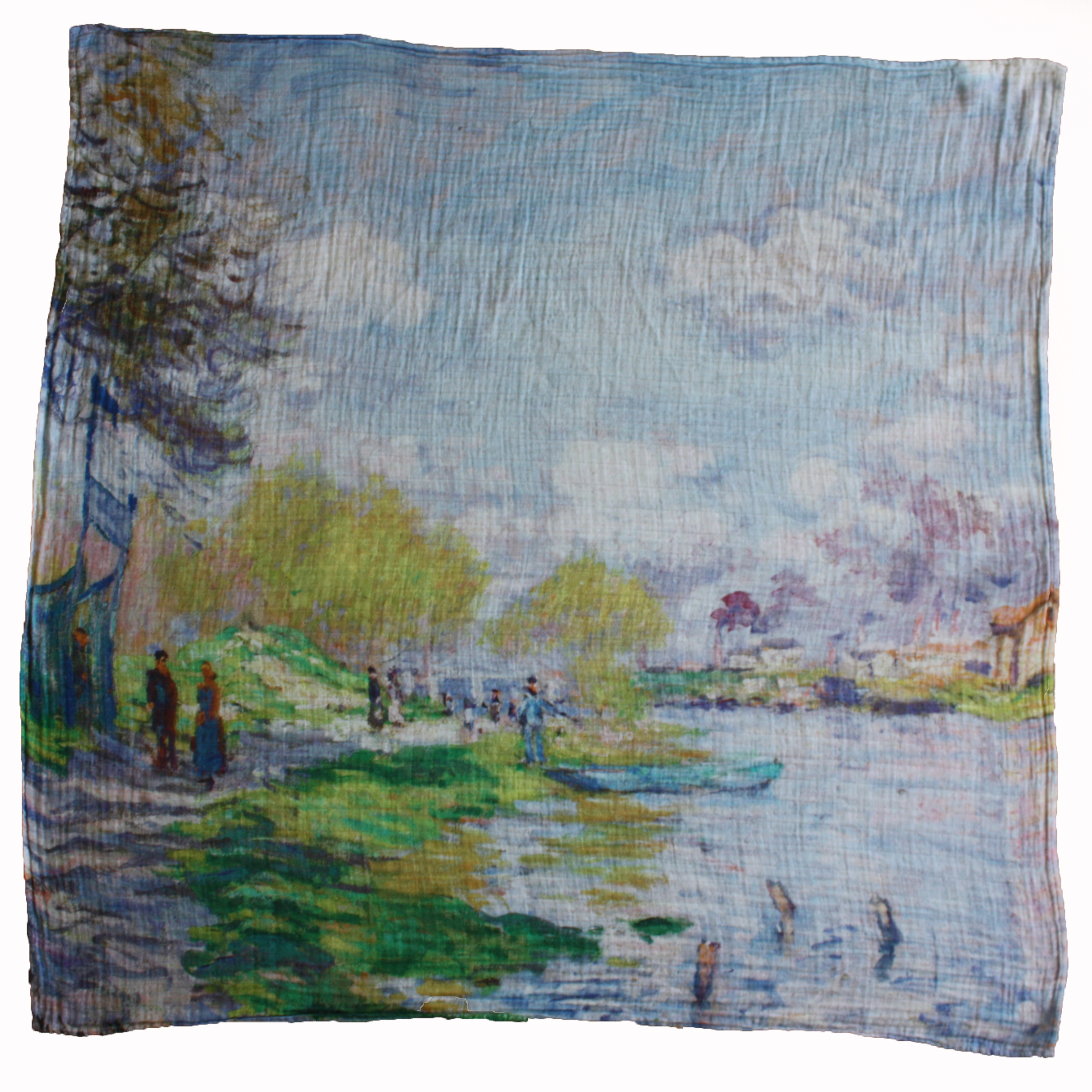 Organic Muslin Swaddle ~ Spring by the Seine