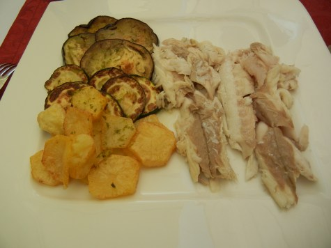 Dorade and roasted vegetables