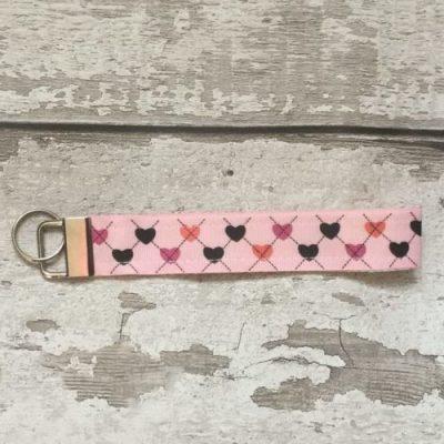 Heart Fabric Key Fob
