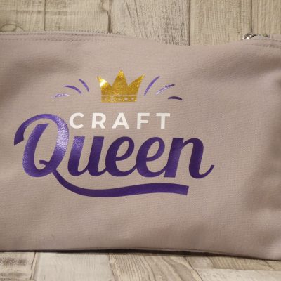 picture of a Craft Queen canvas stash bag for craft projects