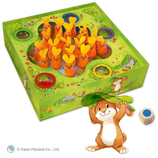 蹦蹦兔Bouncing Bunnies 香港桌遊天地Welcome On Board Game Club Hong Kong 可愛得意動物家庭親子幼兒童遊戲玩具2-5人