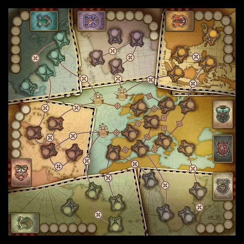 奮進號:大航海時代Endeaver:Age of Sail|香港桌遊天地Welcome on Board Game Club|家庭中度策略遊戲2-5人