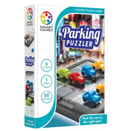 Box: Parking Puzzler 泊車攻略 |香港桌遊天地Welcome On Board Game Club Hong Kong|家庭親子兒童邏輯智力腦筋遊戲玩具禮物1人單人