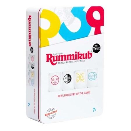 Rummikub Twist Tin Mini魔力橋數字牌遊戲扭轉百變版鐵盒旅行裝 香港桌遊天地Welcome on Board Game Club 家庭長者親子兒童益智遊戲2-4人