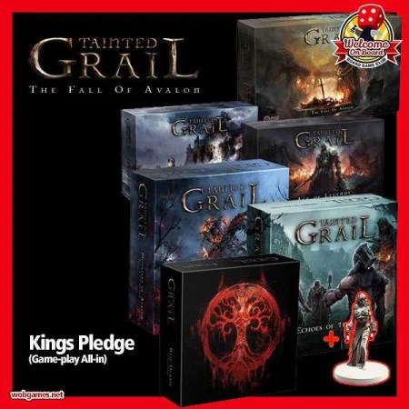 Kickstarter Kings Pledge - Tainted Grail: The Fall of Avalon 玷污聖杯:阿瓦隆的殞落|香港桌遊天地 Welcome On Board Game Club Hong Kong|暗黑史詩戰鬥重策遊戲RPG