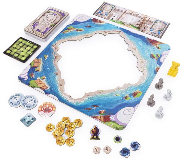 Content: Santorini: Golden Fleece Expansion 聖托里尼 |香港桌遊天地Welcome On Board Game Club Hong Kong|家庭親子策略遊戲Strategy game for kids/family