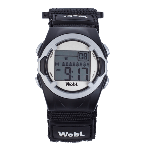 WobL alarm reminder watch, black
