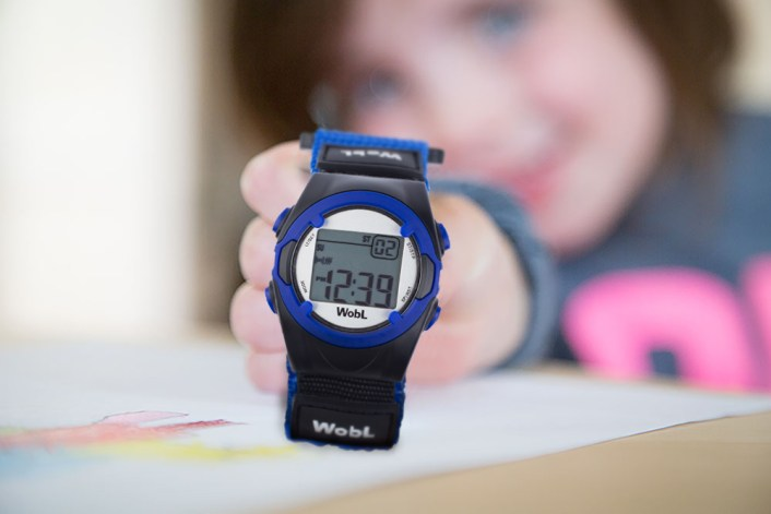 WobL Watch, blue, is rich in features and useful to all ages.