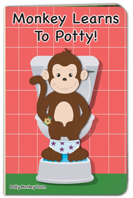 Monkey Learns To Potty board story book