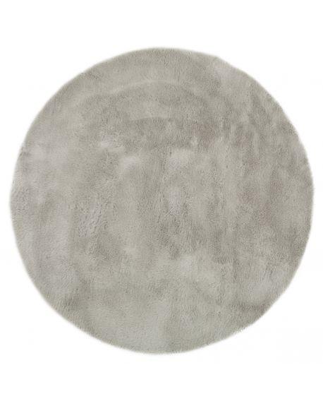 tapis rond gris clair