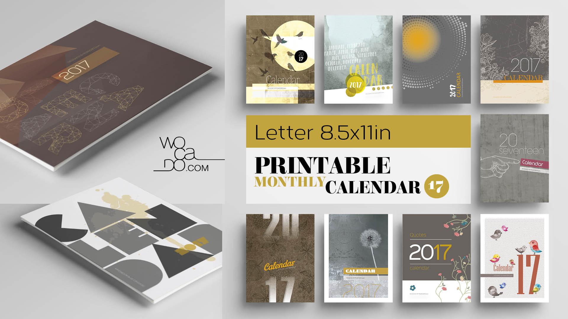 Printable Calendars 2017 by WOCADO
