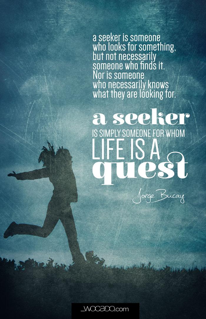 The Seeker by Jorge Bucay - Printable Posters by Wocado