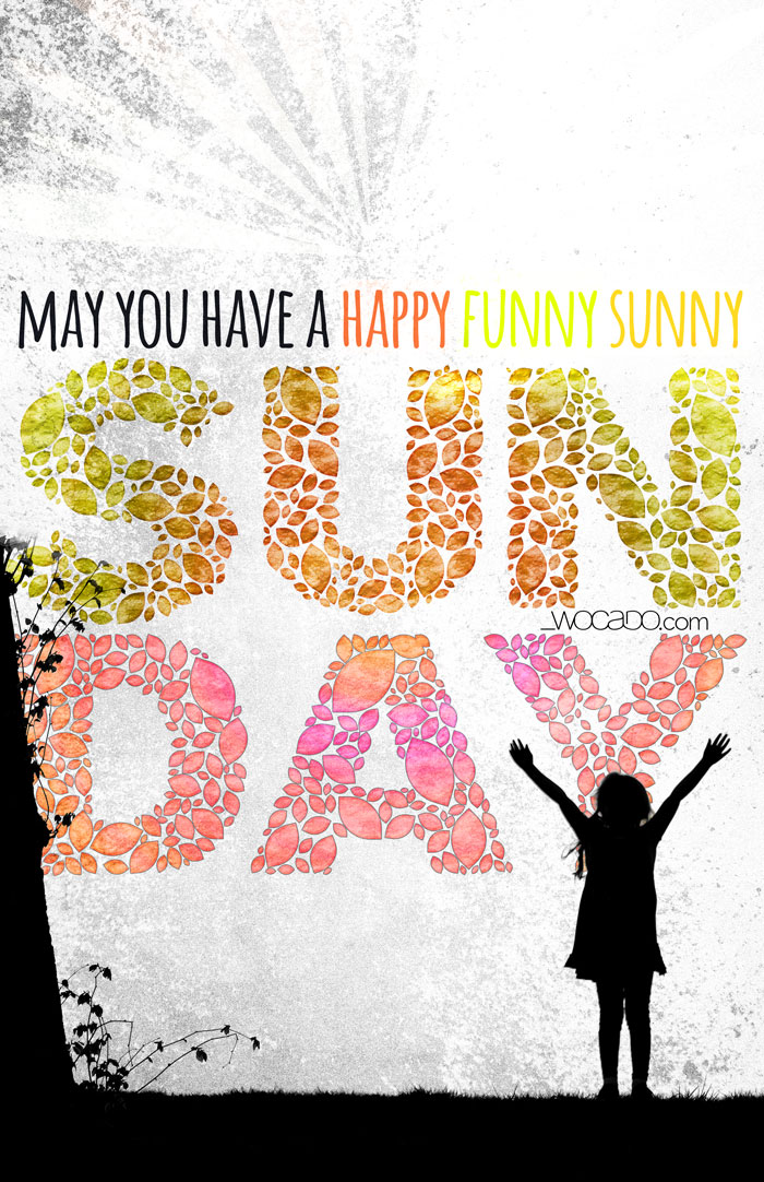Happy Sunday Printable Poster by WOCADO