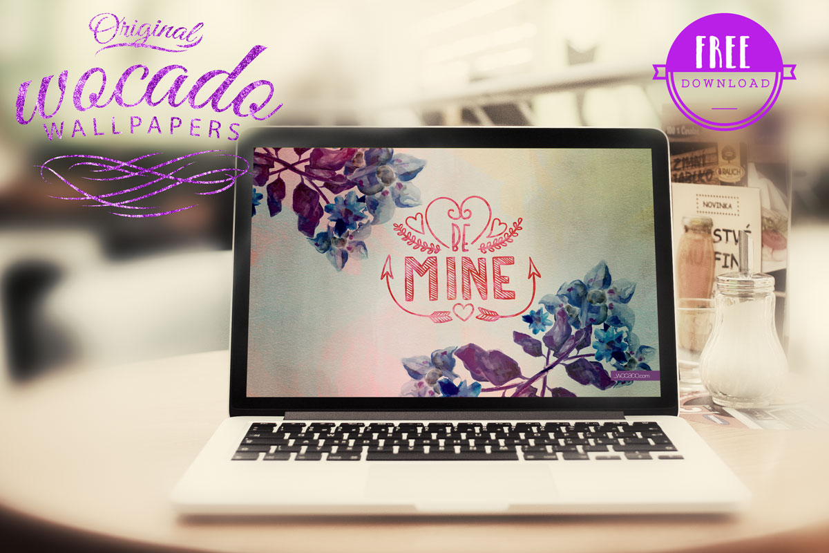Be Mine Wallpaper Background by WOCADO
