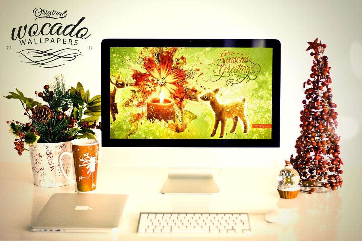 Season's Greetings Wallpaper by WOCADO - Free Download
