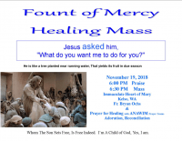Fount of Mercy Healing Flyer