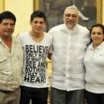 Juan Manuel Iturbe in einer Audienz mit Fernando Lugo