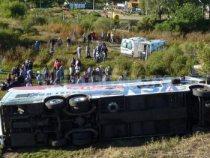 """Paraguayischer """"NSA"""" Bus überschlägt sich in Santa Fe – Argentinien"""