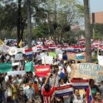 Proteste von Schülern und Studenten