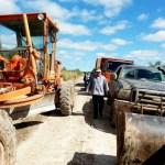 Straßenreparaturen im Chaco