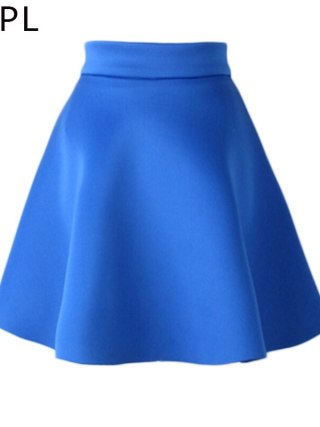 HSPL Mini Skirts Womens High Waist Pleated Midi 17 Summer Vintage Skirt Work Wear Hepburn Skirts Lady American Europe Saia