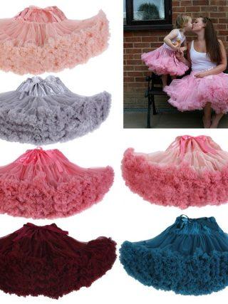 Cosplay fluffy Teenage tutu skirt veil performances skirt Sexy Role Play Pleate Mini Skirt Ruffle for Schoolgirl