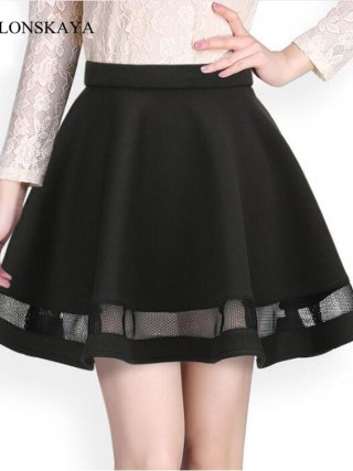 Fashion Grid women skirt elastic faldas ladies tulle midi skirt Sexy Girls lolita mini Pleated tutu skirts womens saias jupe