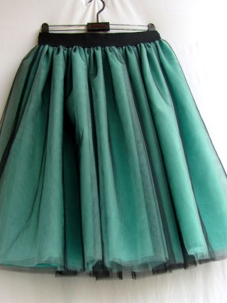 Green Tulle Skirt Womens Ball gown Lace Casual Empire 6 layers Black Fashion Skirt Long Autumn Tutu Skirts Summer Custom made