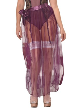 RS80272 Skirts Womens New Arrival Hot Sale Purple Transparent Skirt Solid Plus Size XL Sexy Skirts Womens 19 See Through