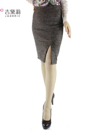 Jaderic spring autumn 18 new women skirt high waist work slim pencil skirt open fork sexy office lady skirts female S-4XL