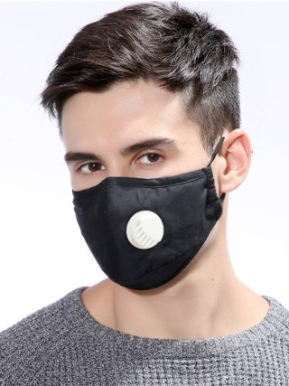AntiDust PM2.5 Valve Mouth Mask Replaceable Filters Anti Pollution Breathable Cotton Face Mask Washable Respirator Mouth-muffle