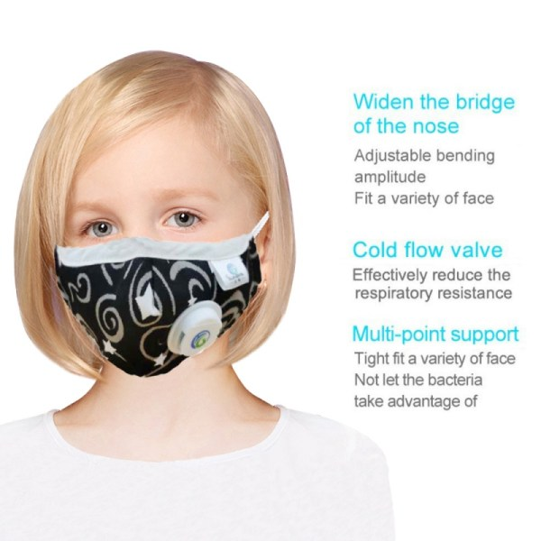 Children Mask With Breath Design Replaceable Filter Kids Anti Dust Mouth Mask PM2.5 Respirator Kids Face Mask Health Protective