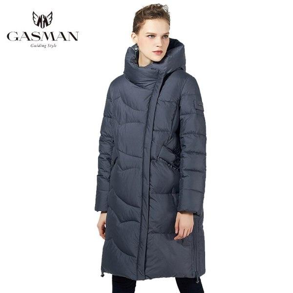 Black Lengthy Trend Parka Girls's Jacket Winter Hooded Coat