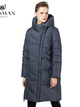 Black Lengthy Trend Parka Girls's Jacket Winter Hooded Coat