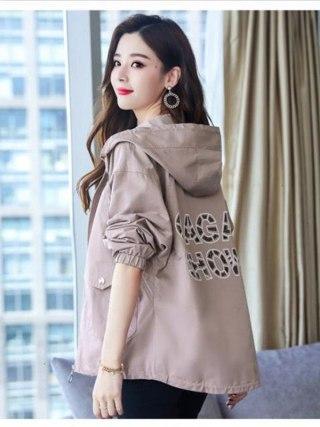Jackets Autumn Windbreaker Feminine Lengthy Sleeve