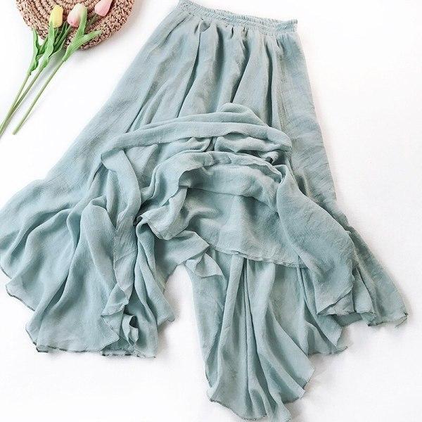 New Arrival Girls Lengthy Skirt Asymmetrical Cotton