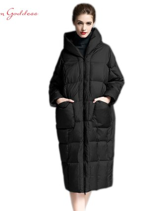 Cocoon Jacket Thick&Lengthy sleeve hooded with Parkas