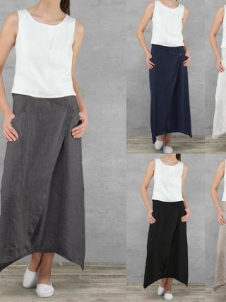 Informal Unfastened Excessive Waist Maxi Skirts