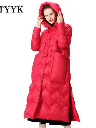 Lightweight down jacket New Winter duck Parka Womens