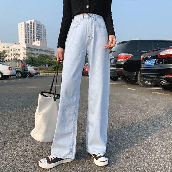 Vogue Spring and Autumn Huge Leg Denims Straight