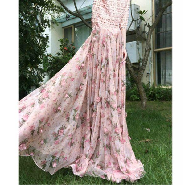 6XL 7XL 8XL Feminine Vogue Pink Chiffon