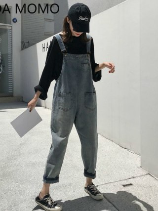 Sleeveless Denim Jumpsuit Girls Overalls Jumpsuits