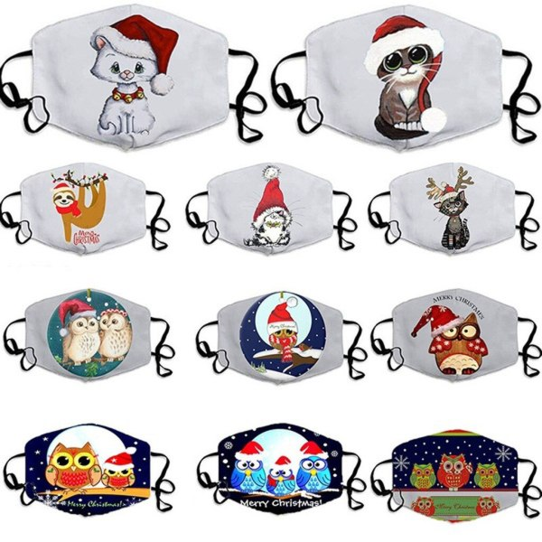 Unisex Merry Christmas Face Masks Cute
