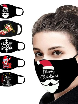 Christmas Face Masks For Safety Breathable Smooth Pores