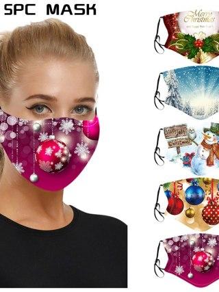 Mouth-Masks Reusable Washable Christmas Face Mask