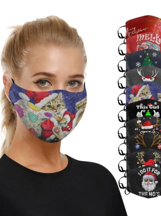Christmas Face Masks Santa Reusable Masks